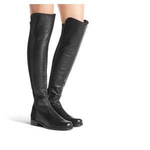 Stuart Weitzman leather half n half boots